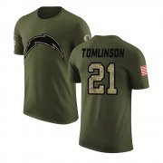 Men's LaDainian Tomlinson Los Angeles Chargers Legend Olive Salute to Service T-Shirt